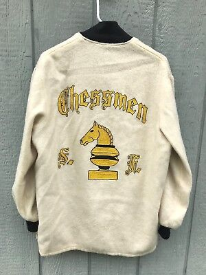 Vintage 1950's 60's CHESSMEN San Francisco Embroidered Wool Car Club Jacket M