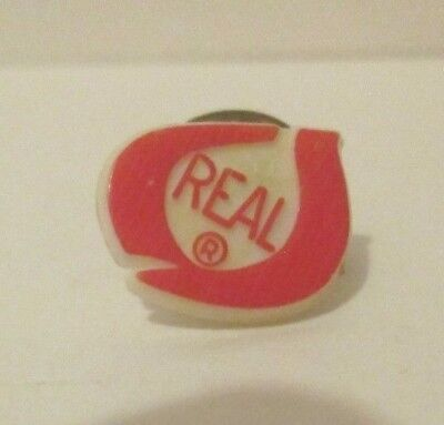 VINTAGE 1980's CALIFORNIA DAIRY INDUSTRY THE REAL SEAL LOGO PLASTIC LAPEL PIN
