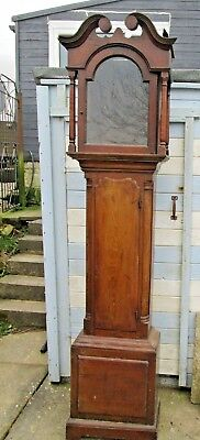 Antique LONGCASE GRANDFATHER CLOCK  ,CASE ONLY SPARES / REPAIR PROJECT (4)