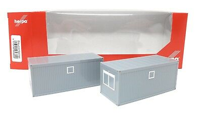 Herpa Truck 1/87 H0 Accessories Parts Truckload 20 ft container 2 units 053600