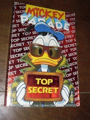 Mickey Parade N° 153  De Septembre 1992 .. Top Secret...be