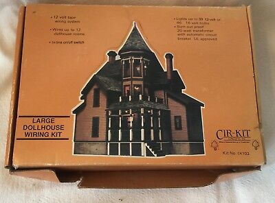 cir kit ck 103 large dollhouse wiring kit new in box never been used rh picclick com Dollhouse Lighting Wiring Kit Dollhouse Electrical Systems