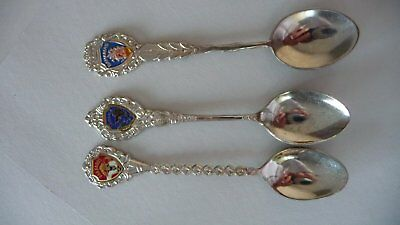 3 souvenir spoons from the Carribean