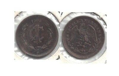 1904 Mexico One Centavo Coin in Extra Fine Condition  ~