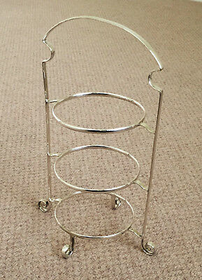 LTD ENGLISH SILVER-PLATED 3-TIER CAKE  sc 1 st  PicClick UK & A VINTAGE T.W u0026 Co. LTD ENGLISH SILVER-PLATED 3-TIER CAKE STAND c/w ...