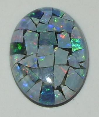 8.41ct Australia Opal Mosaic Triplet Oval 18x13mm SPECIAL