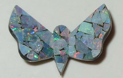 7.87ct Australia Opal Mosaic Doublet Butterfly 25x17.5mm SPECIAL