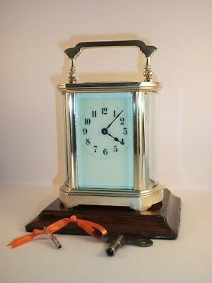 Antique French carriage clock C1910. With keys. Cleaned & serviced in Apr. 2018.