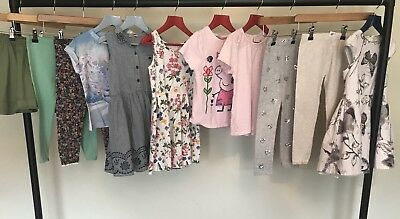 NEXT Girls Clothes Bundle Party Dresses Leggings T-shirts Tops Skirt Age 4-5