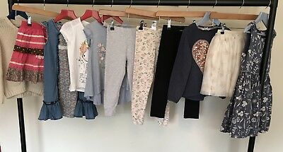 NEXT H&M Girls Clothes Bundle Party Dresses Tops Leggings Skirts Tshirts Age 5-6