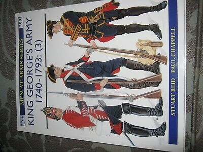 OSPREY  MEN AT ARMS King George's Army 1740 - 93 (3)  VGC