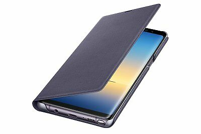 Samsung Galaxy Note 8 LED View Wallet Case, Orchid Gray