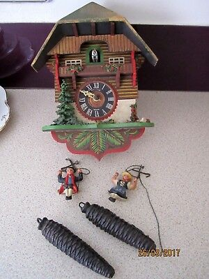 Vintage Wooden Cuckoo Clock,for Spares And Repair