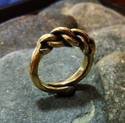 Ancient Viking  Brass Twisted Ring (638) .