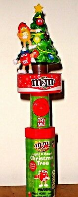 M & M Candy Christmas Tree ~ Lights and Sounds ~ with Red and Yellow NEW