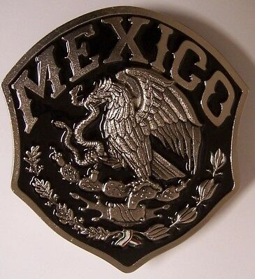 "Trailer Hitch Cover International Mexico Coat of Arms NEW Cast Metal 2"" receiver"