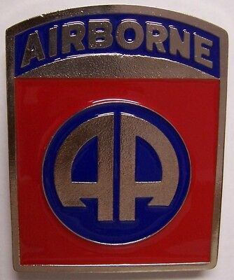 "Trailer Hitch Cover Military 82nd Airborne NEW Cast Metal 2"" receiver"