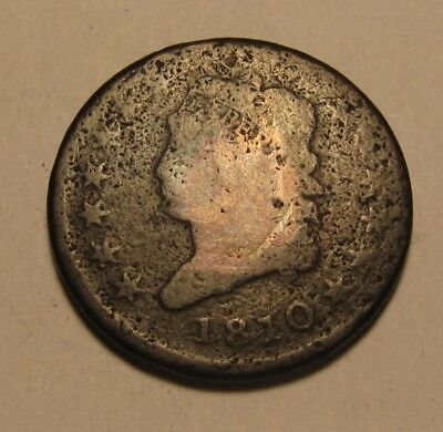 1810 Classic Head Large Cent Penny - Circulated Condition - 54SU