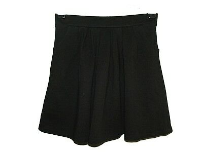 FAB NEW GIRLS EX M & S BLACK JERSEY FLARED SCHOOL SKIRT AGE 9-16+ years (BBB)