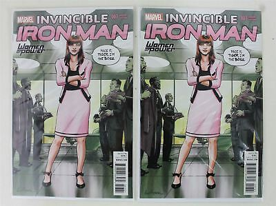 2 x MARVEL Invincible Iron Man #7 Women Of Power Variant Edition Comic Books