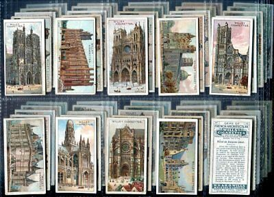 Tobacco Card Set,WD & HO Wills,GEMS OF FRENCH ARCHITECTURE,France Building,1916