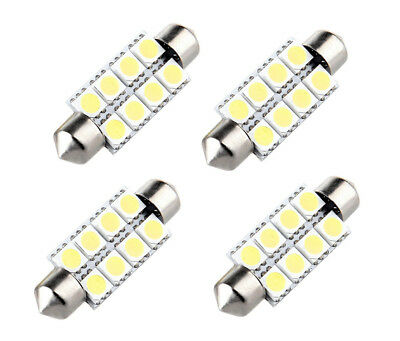 4x 12V Sofitte 42mm 8 Power 5050 CHIP SMD LED Weiß 6000K Soffitte Deutsche Post