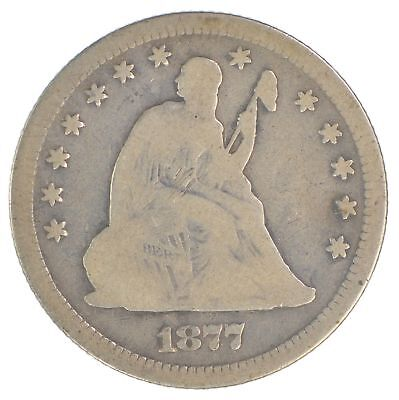 1877 Seated Liberty Silver Quarter *182