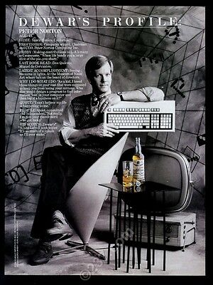1989 Peter Norton photo Dewar's White Label Scotch whisky vintage print ad