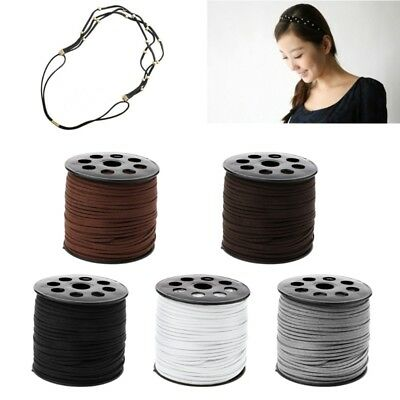 3mm 90m/roll Faux Suede Cord DIY Leather String Rope Thread for Jewelry Making
