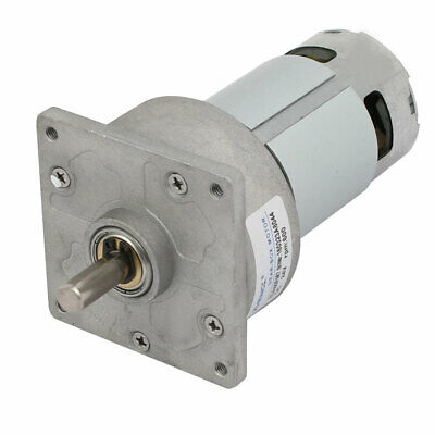 8mm Dia Shaft DC 24V 600RPM 2 Terminal Connecting Electronic Gear Box Motor