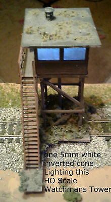 The Best Way To Light Your S Scale Buildings 20 White 5Mm Inverted Cone Leds