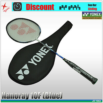 Yonex Badminton Racquet - Nanoray 10 F -  NR10F 4U5 - Blue / Black + 1 Free Grip