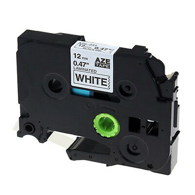Compatible Tze-231 Tz-231 Label Tape for Brother Black on White P-Touch 12mm