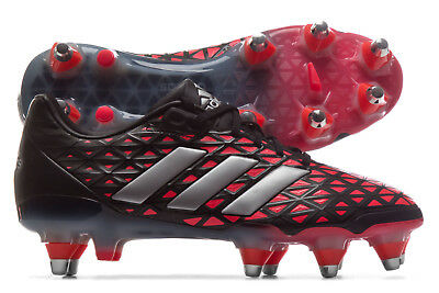 adidas Mens adipower Kakari Soft Ground Rugby Boots Sports Shoes Studs Black