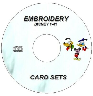 New Disney Character Embroidery Sets 1 - 41 On Cd Pes Designs  Brother