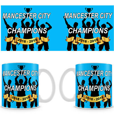Manchester City Champions 2018 - 2019 Coffee Mug - Makes an Ideal Gift