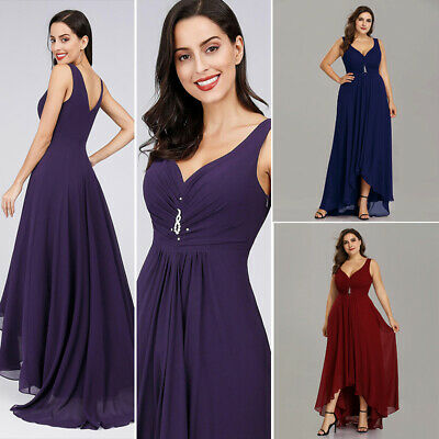 Ever Pretty Uk Long Dark Purple Evening Party Dresses Bridesmaid Prom Gown 09983 29 99 Picclick Uk