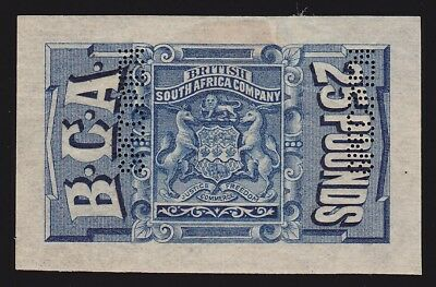 BRITISH CENTRAL AFRICA 1891 Revenue Arms £25 Imperf SPECIMEN GREAT RARITY!!