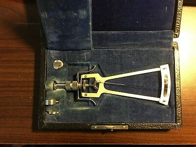 SCHIOTZ TONOMETER  Vintage With Case Medical Oddities