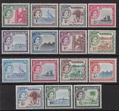 GAMBIA 1953 QEII Pictorial set ½d - £1 MNH **
