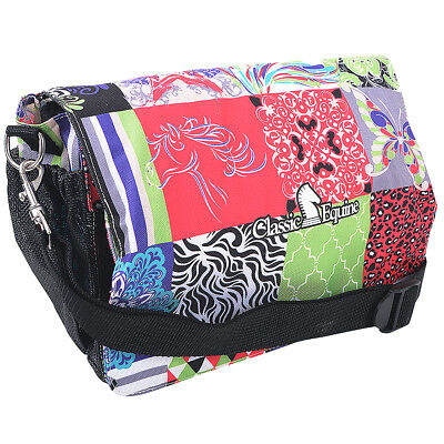 Classic Equine Deluxe Horse Grooming Durable Nylon Necessity Tote Bag Patchwork