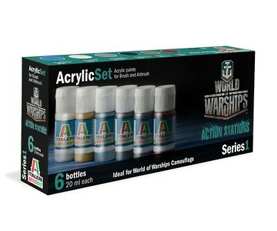 Italeri Acryl Set World of Warships Camouflage