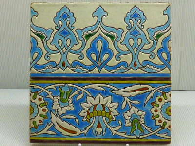 Vintage Faience Art Nouveau Wall Tile French ?