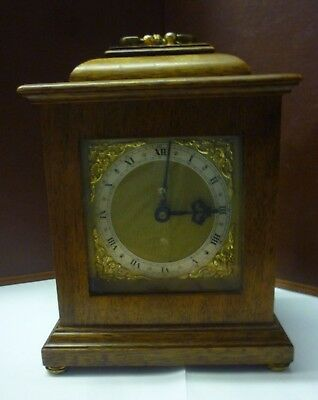 Pretty Vintage Miniature Striking 8 Day Bracket Clock Hermle Movement Working