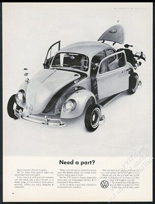 1965 VW Beetle classic car photo Need A Part? Volkswagen 13x10 ad