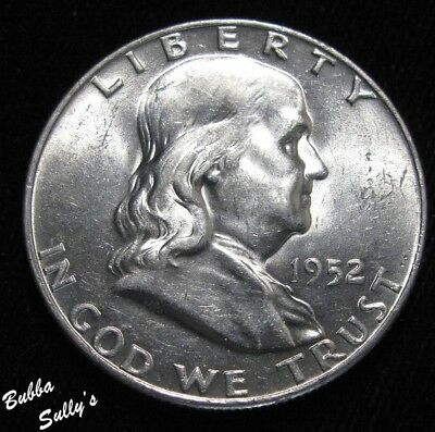 1952 D Franklin Half Dollar <> ABOUT UNCIRCULATED ++