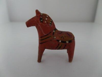 "Vintage Antique Swedish Dala Horse 1 9/16"" Split Ears"
