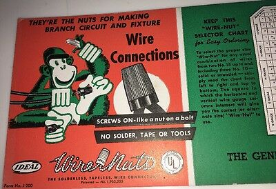 General Electrical Troy New York Monkey Wire Nuts Advertising Blotter