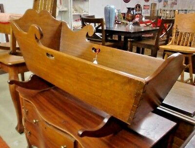 Primitive Antique Walnut Baby Cradle Dovetailed Original and AWESOME!