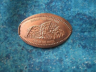 NIAGARA FALLS STATE PARK CAVE OF THE WINDS Elongated Penny Pressed Smashed 23